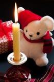 Свечка рождества Стоковые Изображения