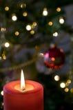 Свечка рождества Стоковая Фотография RF