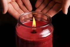 свечка теплая Стоковые Изображения