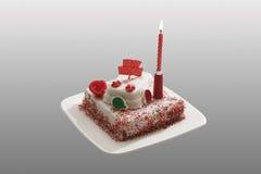 свечка торта горения дня рождения Стоковая Фотография