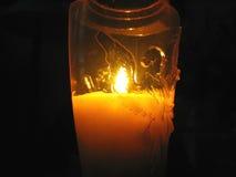 свечка 2 ангелов украсила картину Стоковые Изображения RF
