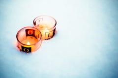 свечки 2 белизны Стоковые Фотографии RF