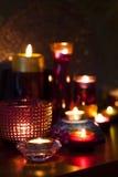 Свечки в ноче Стоковое фото RF