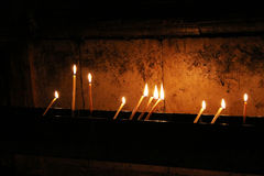 Свечки в церков святейшего Sepulchre стоковая фотография rf