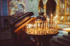 Свечки в церков Стоковая Фотография RF