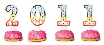 свечки дня рождения изолировали белизну Стоковое Изображение RF