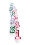 Свечки дня рождения изолированные на белизне Стоковые Фото