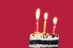 свечки дня рождения яркие Стоковое Изображение RF