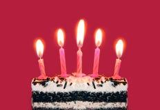 свечки дня рождения яркие Стоковое Изображение