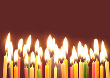 свечки дня рождения стоковые фотографии rf