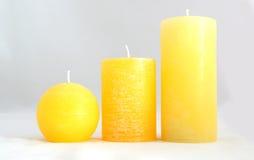 свечки желтого цвета Стоковые Изображения RF