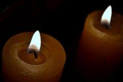 свечки желтого цвета Стоковая Фотография