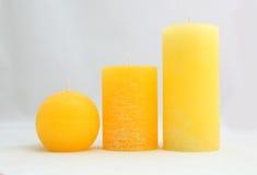 свечки желтого цвета Стоковые Фотографии RF