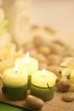свечки зеленого цвета Стоковое Фото