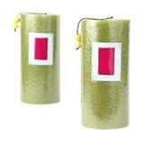 свечки зеленого цвета Стоковая Фотография