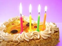 свечки именниного пирога Стоковая Фотография RF