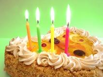 свечки именниного пирога Стоковые Изображения RF