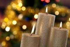 Свечки и света рождества Стоковые Фото