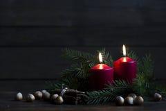 Свечки и света рождества Стоковые Фотографии RF