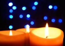 Свечки Кристмас Стоковая Фотография RF