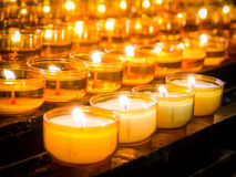 Свечки молитве стоковые изображения