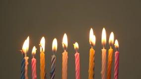 свечки дня рождения горящие видеоматериал