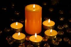 свечки освещать Стоковое Изображение RF
