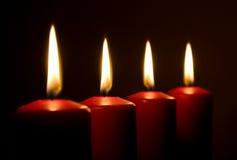 свечки пламен красных Стоковая Фотография RF