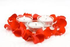 свечки подняли Стоковое Фото