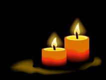 свечки предпосылки черные Стоковые Фото