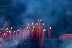 свечки предпосылок черные Стоковые Фотографии RF