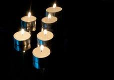 свечки предпосылки черные Стоковая Фотография RF