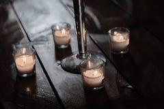 свечки плавать Стоковые Изображения RF