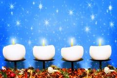 Свечки рождества Стоковая Фотография