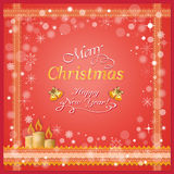 свечки рождества карточки Стоковое Изображение RF