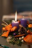 Свечки рождества Стоковые Изображения