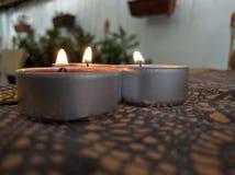 свечки таблицы Стоковые Изображения RF