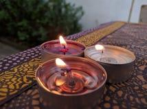 свечки таблицы Стоковая Фотография RF