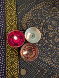 свечки таблицы Стоковая Фотография