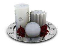 свечки chrome серая плита Стоковая Фотография RF