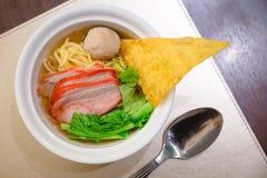 свинина лапши Малайзии еды bbq Стоковая Фотография