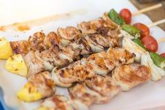 Свинина барбекю и жаркого стоковые изображения rf