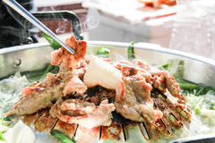Свинина гриля в стиле Кореи Стоковая Фотография RF