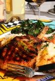 свинина еды chop главный Стоковая Фотография