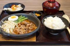 Свинина зажаренный в духовке корейцем стоковая фотография