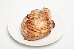 свинина зажженный chop Стоковые Фотографии RF
