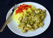 Свинина Китая и рис карри Стоковая Фотография RF
