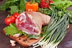 свинина костяшки сырцовый Стоковая Фотография RF