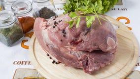 свинина мяса предпосылки близкий вверх по белизне Стоковая Фотография RF