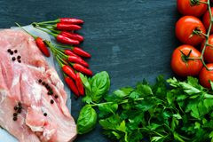 свинина мяса сырцовый стоковые фотографии rf
